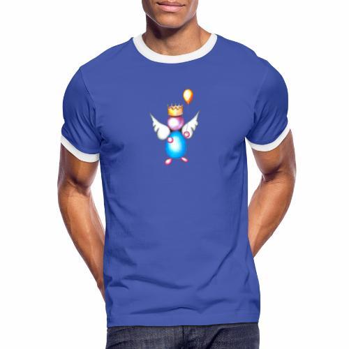 Mettalic Angel geluk - Mannen contrastshirt