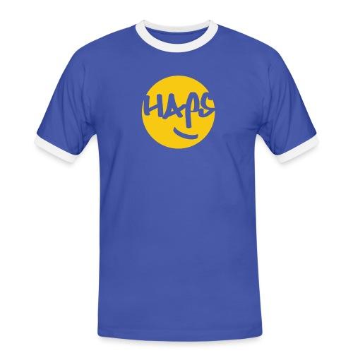 HAPS Yellow Logo - Men's Ringer Shirt