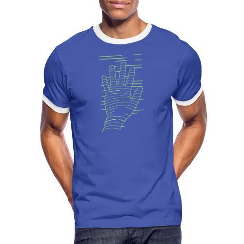 EigenHand gruen - Männer Kontrast-T-Shirt