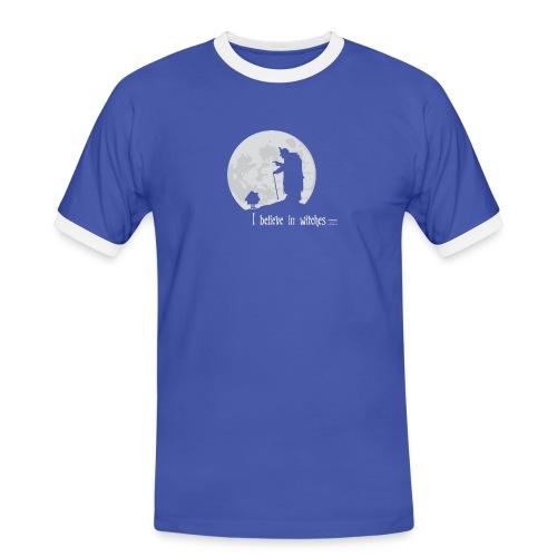 I believe in witches - Männer Kontrast-T-Shirt