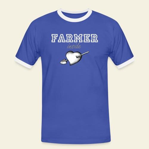 hearth farmer white - Maglietta Contrast da uomo
