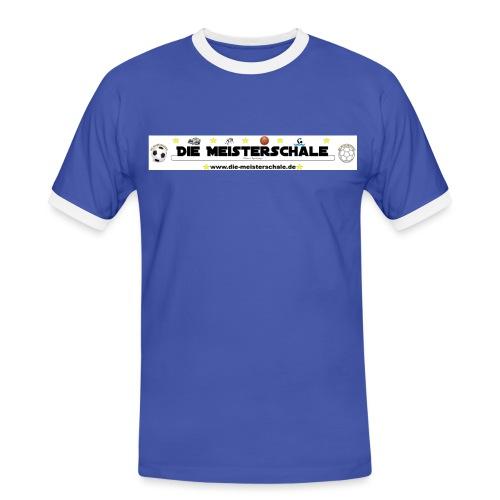 Die Meisterschale Logo Banner Werbung jpg - Männer Kontrast-T-Shirt