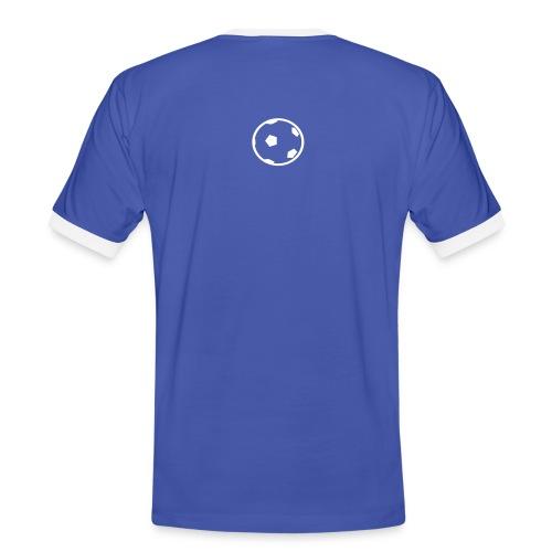 Unterwasser-Rugby Ball - Männer Kontrast-T-Shirt