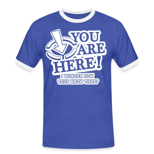 bbb_youarehere_shirt - Men's Ringer Shirt
