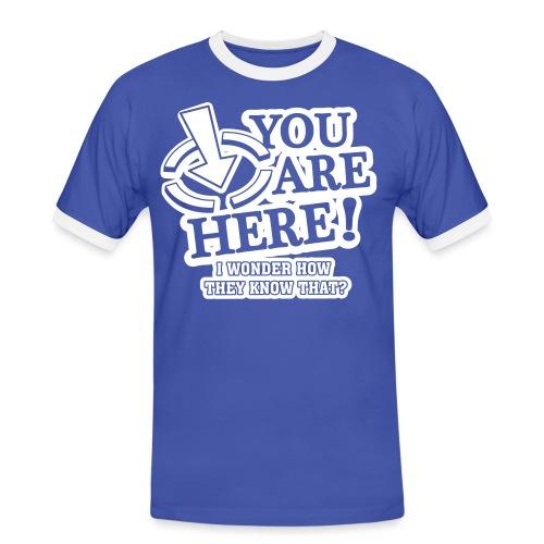 bbb_youarehere_shirt - Men's Ringer Shirt