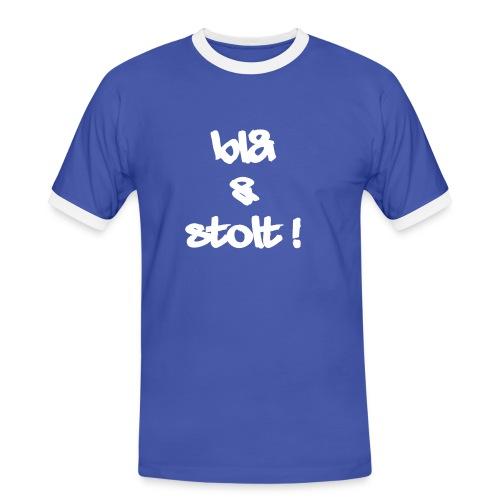 blogstolthvit1000 - Kontrast-T-skjorte for menn