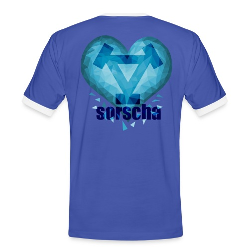 frozen heart png - Men's Ringer Shirt