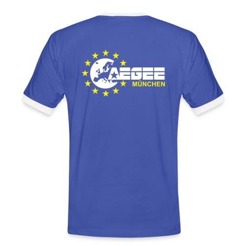 aegeemuenchenvector - Männer Kontrast-T-Shirt