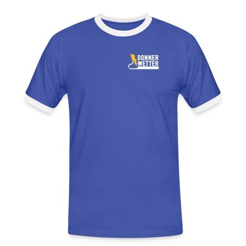 Donnerwetter de Logo klein - Männer Kontrast-T-Shirt