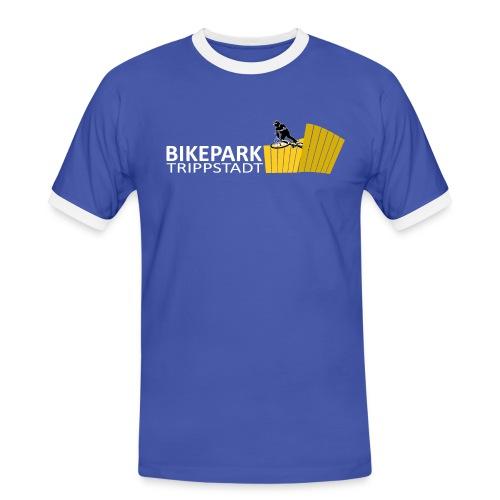Classic weiß gelb - Männer Kontrast-T-Shirt