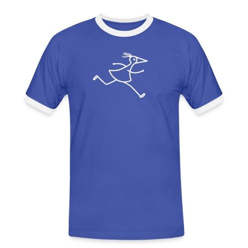 Marathon-RUNNY weiss - Männer Kontrast-T-Shirt