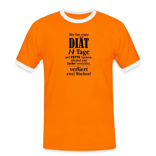 14 Tage Diät Übergewicht Alkohol Zucker fett essen - Men's Ringer Shirt