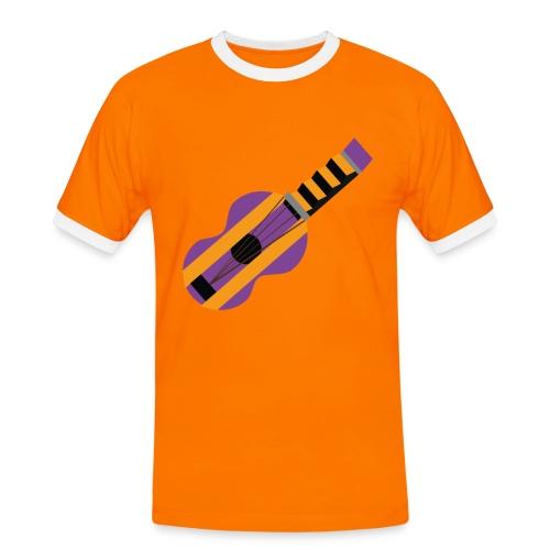 La Gitarre - Kontrast-T-skjorte for menn