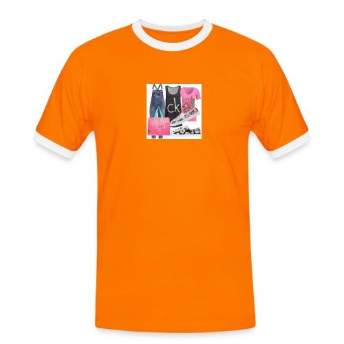 outfit pace e amoreio amo il colore - Maglietta Contrast da uomo