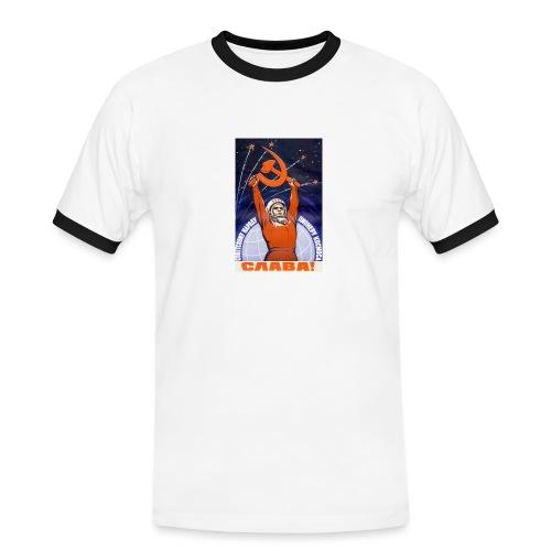 space jpg - Herre kontrast-T-shirt