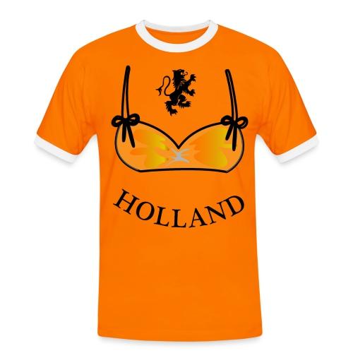 Voetbal Bikini Nederlandse Leeuwin Oranje - Mannen contrastshirt