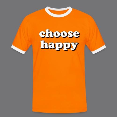 CHOOSE HAPPY Tee Shirts - Men's Ringer Shirt