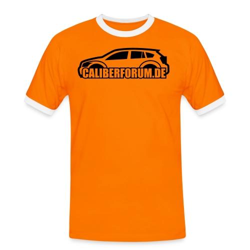 Dunkles Logo - Männer Kontrast-T-Shirt