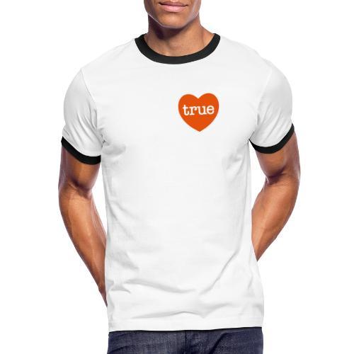 TRUE LOVE Heart - Men's Ringer Shirt