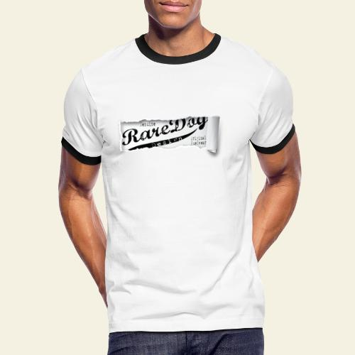 ripped paper - Herre kontrast-T-shirt