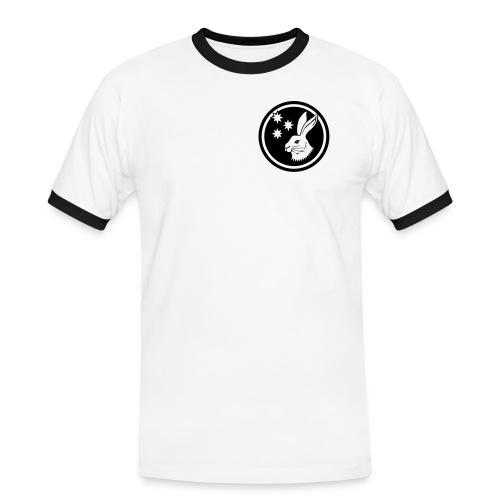 Reilinger Hase im Kreis - Männer Kontrast-T-Shirt