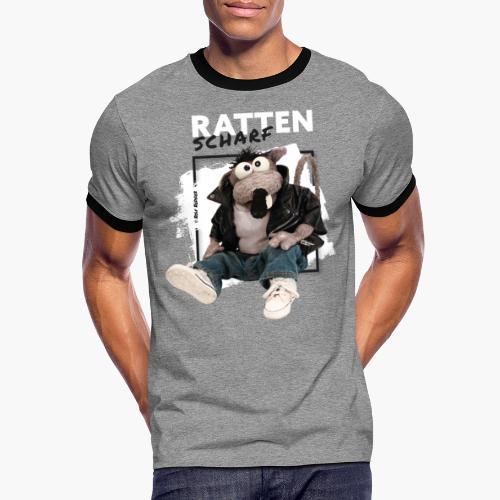Rolf Rüdiger Rattenscharf - Männer Kontrast-T-Shirt