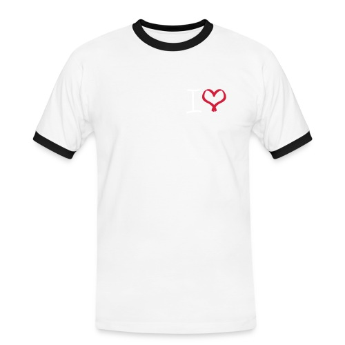 I love, I heart symbol - Men's Ringer Shirt
