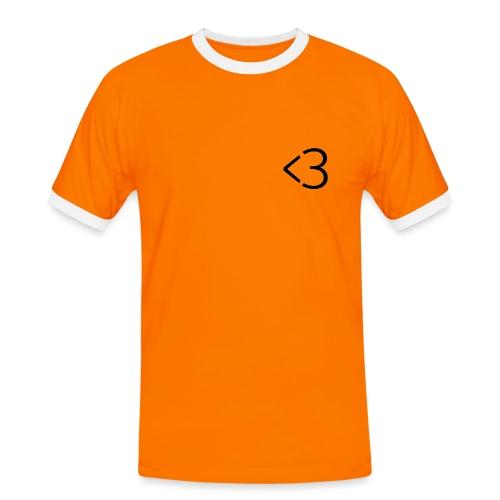 <3 - Herre kontrast-T-shirt