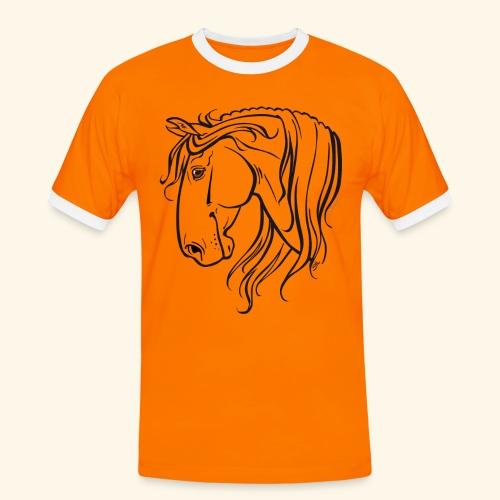 Cheval espagnol (noir) - T-shirt contrasté Homme