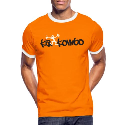 Logo Kaekombo Orange - Männer Kontrast-T-Shirt