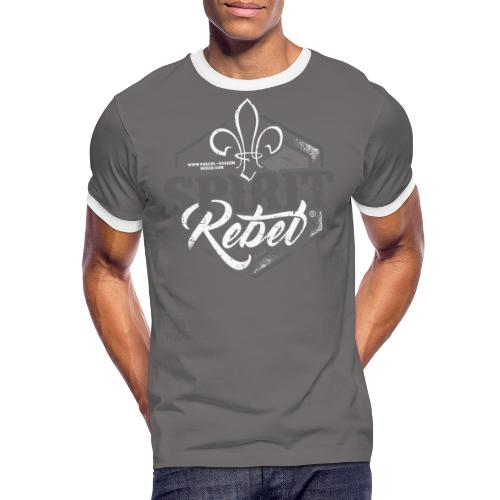Spirit-Rebel® Modern Pascal Voggenhuber - Männer Kontrast-T-Shirt