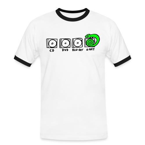 xnet vektormotiv - Männer Kontrast-T-Shirt