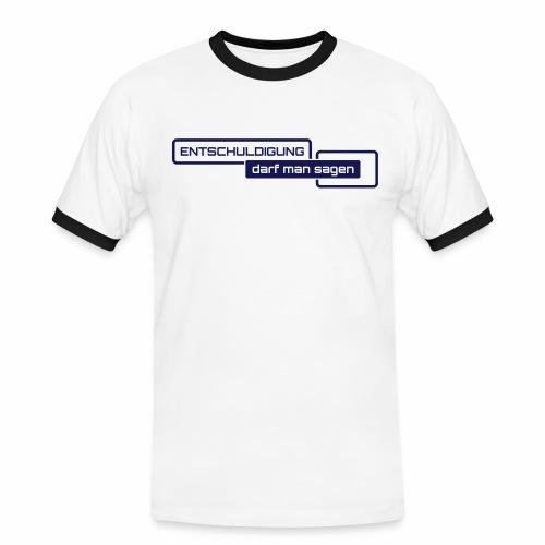 Entschuldigung - Männer Kontrast-T-Shirt