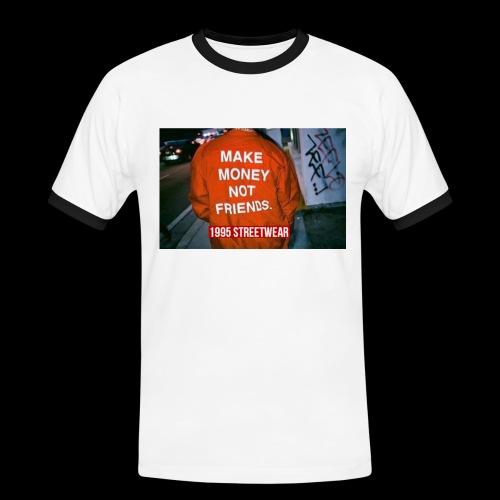 MAKE MONEY NOT FRIENDS - Maglietta Contrast da uomo