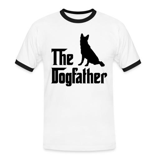 Dogfather Schäferhund schwarz - Männer Kontrast-T-Shirt