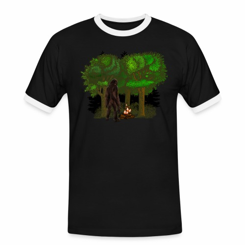 Bigfoot Campfire Forest - Men's Ringer Shirt