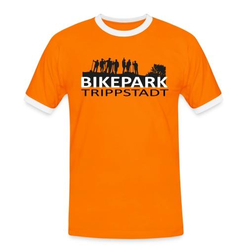 Bikepark staff in schwarz - Männer Kontrast-T-Shirt