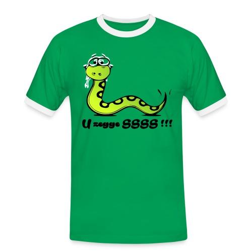 U zegge SSSS !!! - Mannen contrastshirt