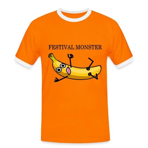 Festival Banane - Männer Kontrast-T-Shirt