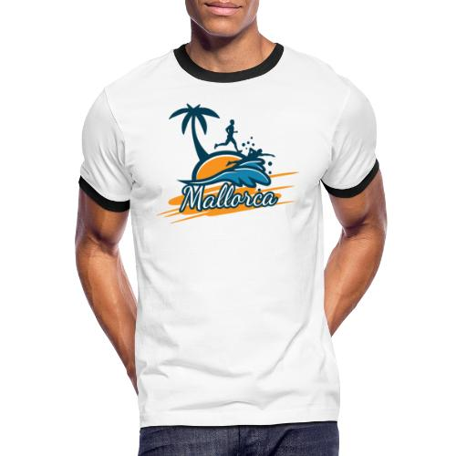 Joggen auf Mallorca - Sport - sportlich - Jogging - Männer Kontrast-T-Shirt