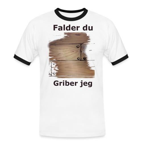 Gulvet Griber - Herre kontrast-T-shirt