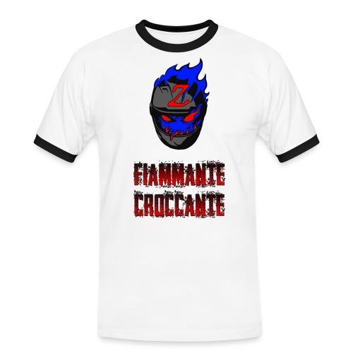 FlamesLogo - Maglietta Contrast da uomo