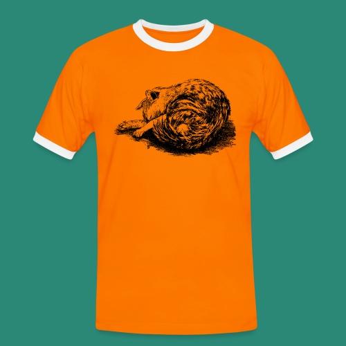 schlafende Katze - Männer Kontrast-T-Shirt