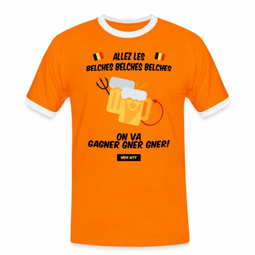allez belge Par MDR.WTF - T-shirt contrasté Homme