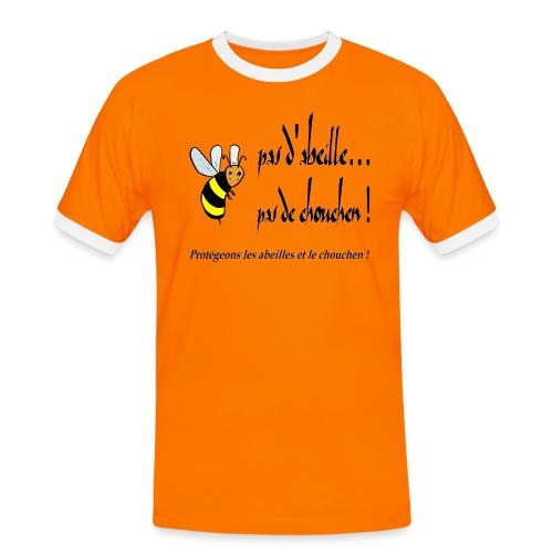 Pas d'abeille, pas de chouchen - T-shirt contrasté Homme