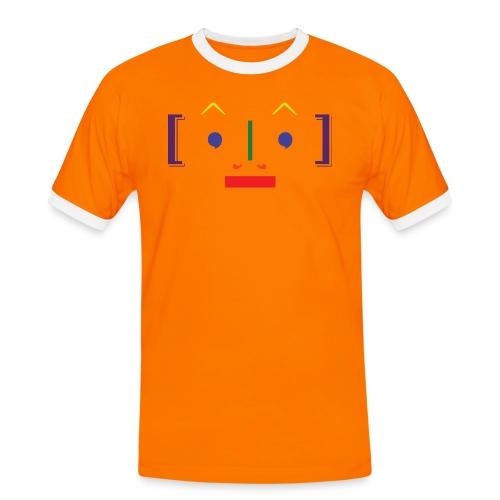 TypoFace - Herre kontrast-T-shirt