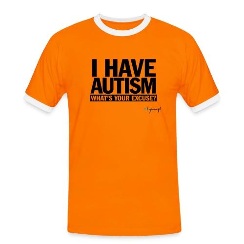 I have autism... (black) - Koszulka męska z kontrastowymi wstawkami