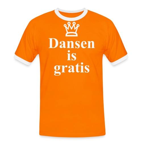 Dansen is Gratis - Mannen contrastshirt