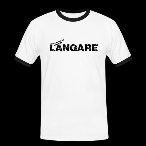 LANGARE - Kontrast-T-shirt herr