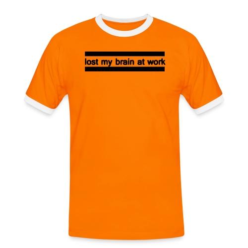 lost my brain at work - Männer Kontrast-T-Shirt